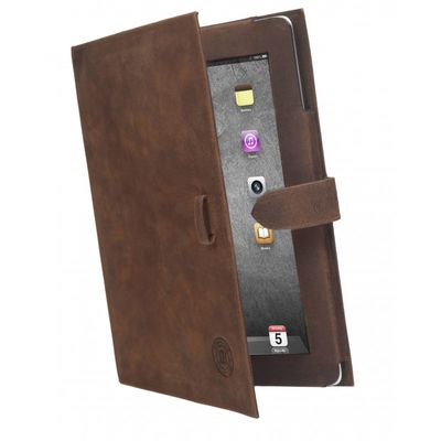 LEATHER CLASSIC FOLIO CASE (FOR NEW IPAD - HUNTER BROWN)
