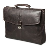 Leather briefcase Frederiksborg up to 14'' - Hunter dark