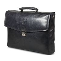 Leather briefcase Frederiksborg up to 14'' - Black