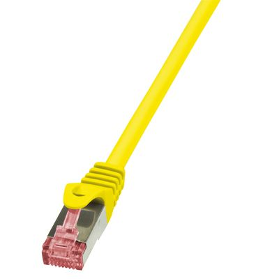 CAT6 S/FTP Patchkabel AWG27 PIMF gelb 0,25m