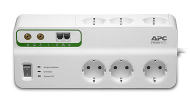 HOME/ OFFICE SURGEARREST 6 OUTL W/ PHONE/ COAX PROTECTION 230V