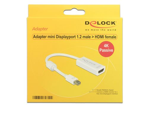 Displayport Adapter til DVI(24+5) 4K Passiv