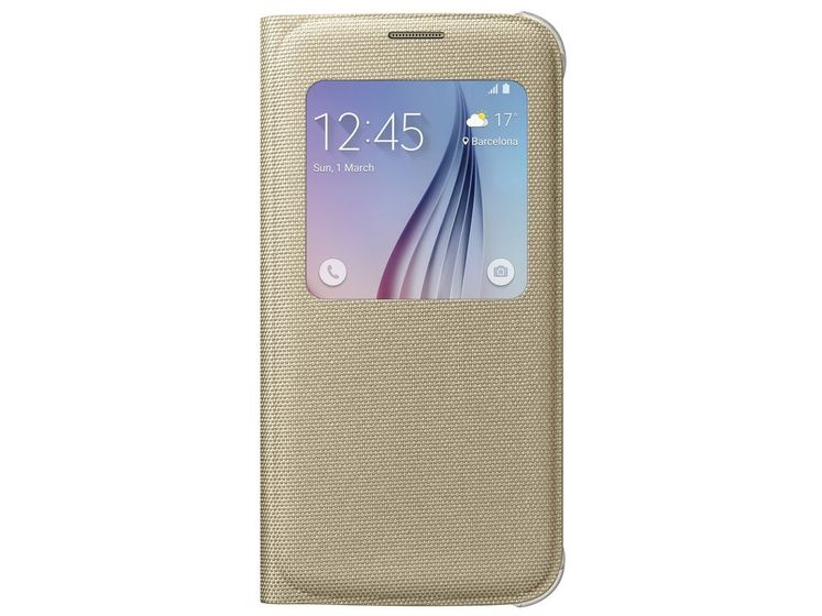 S-View Cover Galaxy S6, Gold S-View Cover Fabric