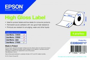 HIGH GLOSS DIE-CUT 102X51MM 2310 LABELS