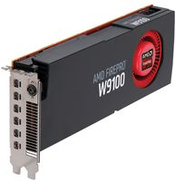 AMD FirePro W9100 16GB, 6x miniDP, PCIe x16, stereo, containing 6x miniDP/DP adapter cables