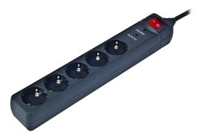 POWER STRIP SPG5-C-10 5 SOCKETS 3 M BLACK