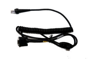 Cable: RS232 (5V signals), Bioptic Stratos Aux, 10 pin modular, 3m, Coiled