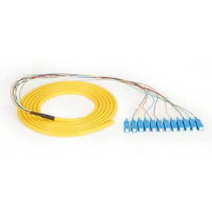 BLACK BOX FO Single-Mode Pigtails OS2 yellow - 12 fibers SC Factory Sealed (FOPT50S1-SC-12YL-3)