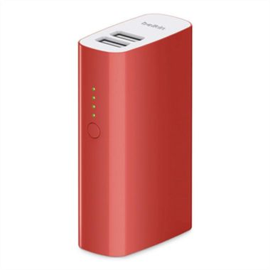 POWER PACK 4000 MAH/ RED 2USB PORT 2400MA/ MICROUSBCABLE   IN ACCS
