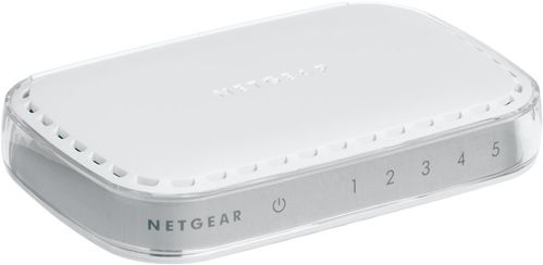 NETGEAR 5X 10/ 100/ 1000 PLATINUM DESKTOP UNMANAGED SWITCH                 IN CPNT (GS605-400PES)