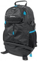 MANHATTAN TREKPACK BLACK/ BLUE WOVEN POLYESTER TOPLOAD BACKPACK F/ 17IN (439756)