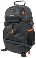 TREKPACK BLACK/ ORANGE WOVEN POLYESTER TOPLOAD BACKPACK F/ 17IN