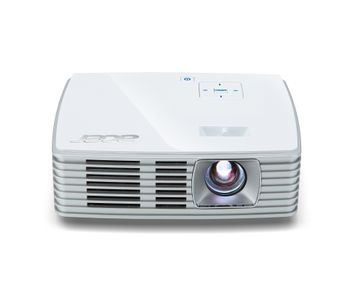 K135i DLP LED Projector 600ANSI Lumen 3D ready WXGA 1280x800 10000:1 HDMI/MHL 24-pin Universal I/O USB A SD incl. WLAN Dongle