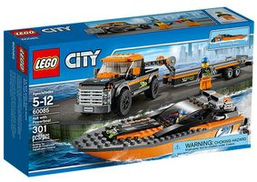 City 60085 4x4 with Powerboat
