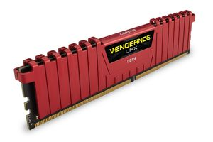 CORSAIR 16GB (4-KIT) DDR4 3300Mhz Red Vengeance LPX (CMK16GX4M4B3300C16R)