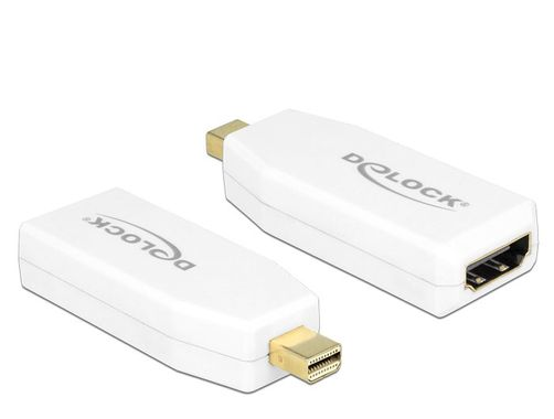 DeLOCK 65582, mini DisplayPort till HDMI-adapter,  DP 1.2, vit