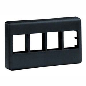 PANDUIT NK 4-port, modular furniture fac Snap on modular furniture faceplate. Acc (NK4MFBL)