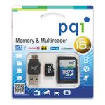 SAFEHOME MicroSD w/ SD/ USB/ OTG adapter for Camera/ Storage/ Data 16GB - qty 1