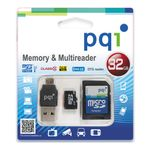 SAFEHOME MicroSD w/ SD/ USB/ OTG adapter for Camera/ Storage/ Data 32GB - qty 1