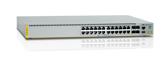 ALLIED TELESYN Gigabit Edge Switch with 24 x 10/ 100/ 1000T,  4 x 1G SFP ports. Requires licenses to enable 10G uplink (AT-x510L-28GT-50)