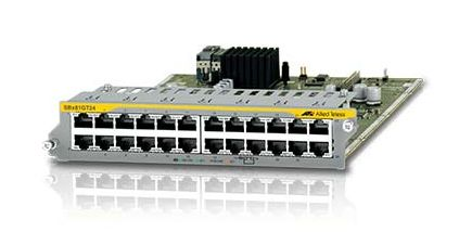 ALLIED TELESYN 24-port 10/ 100/ 1000T Ethernet line card (AT-SBx81GT24)