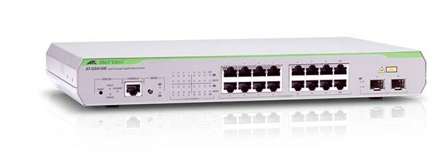 AT-GS916M LAYER 2 SWITCH 16 X10/ 100/ 1000MBPS PORT MANAGED IN