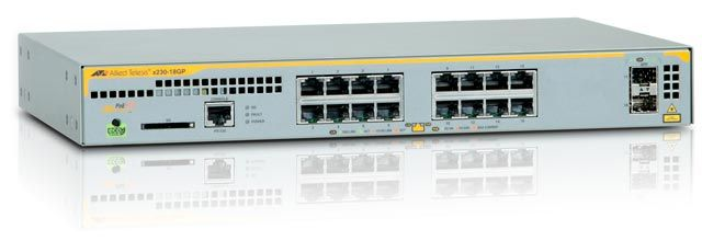 AT-X230-18GP 16X10/ 100/ 1000MBPS POE+ PORTS IN