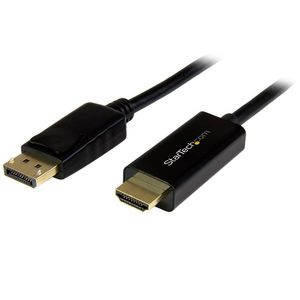 STARTECH DisplayPort to HDMI Converter Cable - 2m - 4K	 (DP2HDMM2MB)