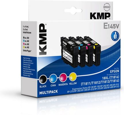 E145V Multipack BK/C/M/Y compatible with Epson T1816