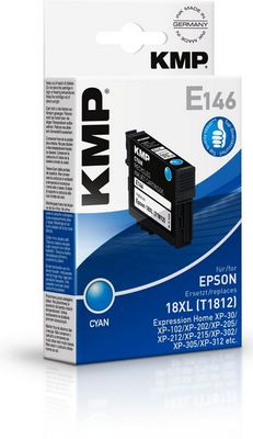 E146 ink cartridge cyan compatible with Epson T1812