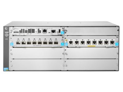 Hewlett Packard Enterprise 5406R 8-port 1/ 2.5/ 5/ 10GBASE-T PoE+ / 8-port SFP+ (No PSU) v3 zl2 Switch (JL002A)
