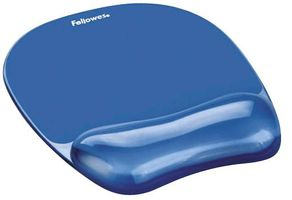 FELLOWES Crystal Gel Mouse Gel Wrist Support blue (9114120)