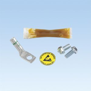 PANDUIT ESD Port Kits, 1 Hole, Thread-Fo One-hole ESD port; provided with an ESD (RGESD-1Y)