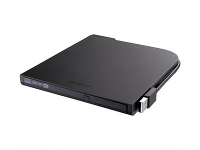 BUFFALO 8x Ultra-Thin Portable USB2.0 DVD Writer M-Disc support (DVSM-PT58U2VB-EU)