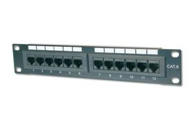 DIGITUS CAT 5e, Class D Patch Panel, 12 port unshielded (DN-91512U)