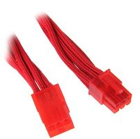 6-Pin PCIe Verlängerung 45cm - sleeved red/red
