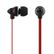 STREETZ in-ear headset med mikrofon, svarknap, trasselfri,  sort/rod