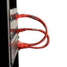 BLACK BOX Patch Cable CAT6 Reduced-Length   - Red 22.9cm Factory Sealed (EVNSL643-06IN)