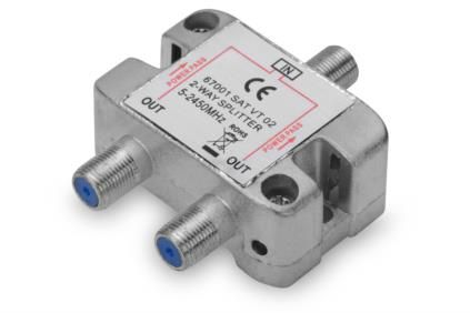 ASSMANN Electronic SAT SPLITTER 2-WAY F-CONNECTOR F/F/F CE METAL (84675)