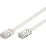 GOOBAY CAT 6 Flat-Patch Cable U/UTP White 10 m Factory Sealed (95156)