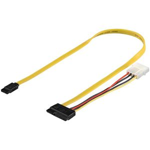GOOBAY Kabel SATA + Power 0,5m (68175)