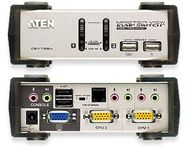 ATEN Masterview CS1732A 2 Port Switch Inkl.kabler, Dual Interface USB,m/lyd Kan firmware opgraderes, PS/ 2 optional (CS1732C)