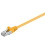 Goobay Patchkabel RJ45 CAT5e Gul S-FTP 0.5 m.