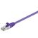 Goobay Patchkabel RJ45 CAT5e Violet S-FTP 0.25 m.
