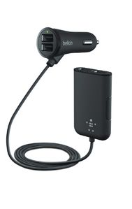 BELKIN Car Charger Road Rockstar/ 4 Port Passenger Charger (F8M935bt06-BLK)