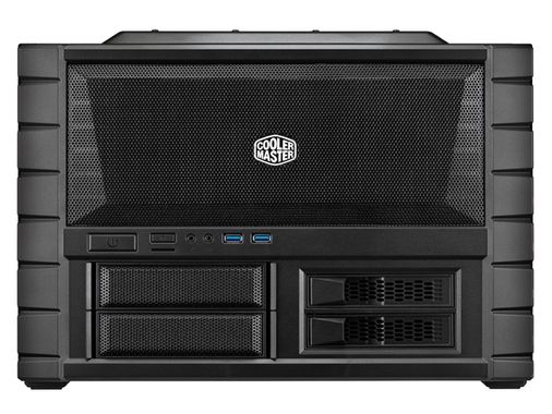 HAF XB Evo Sort Vifter: 2x 120mm Front, mATX, ATX, mITX, X-Dock, 2x USB 3.0, Audio, Vindu
