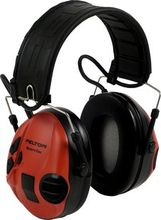 PELTOR SPORTTAC STAC-RD EAR DEFENDERS BLACK RED          IN ACCS (XH001650056)
