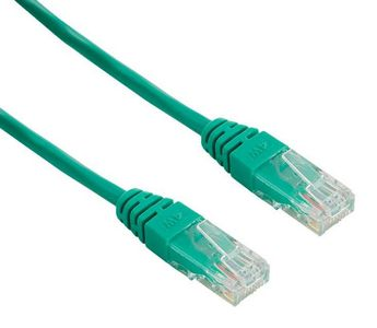 4World Patchcord RJ45, snagless, Cat. 5e UTP, 1m, green (04723)