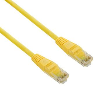 4World Patchcord RJ45, snagless, Cat. 5e UTP, 1m, yellow (04729)