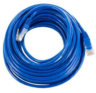 4World Patchcord RJ45, snagless, Cat. 5e UTP, 10m, blue (04721)